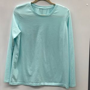 Women's Lands End Supima Cotton Relaxed Fit Tee L